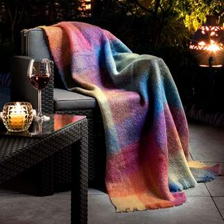 Foxford Mohair Blanket Traditional Irish weaving – in new colours.