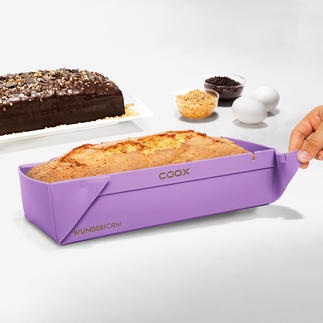 Collapsible Silicone Oblong Baking Mould No turning upside down, no sticking. For space-saving storage.