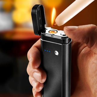 5-in-1 Multi Tool Power bank, torch, SOS flashing light, hygiene and banknote tester and a flameless electronic lighter in one.