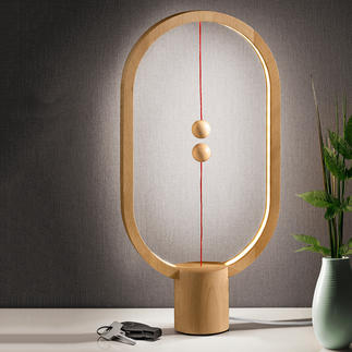 Heng Balance Lamp Beech Fascinating light object instead of a simple table lamp.