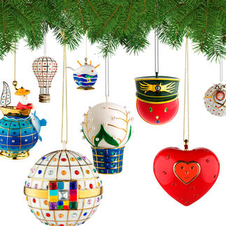 Alessi Decorative Baubles Faberjori Artfully hand-decorated porcelain baubles.