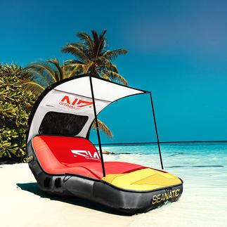 Cabana Lounge The luxury lounger among inflatable islands.