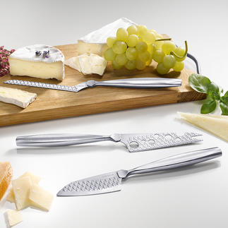 Boska Cheese Knife Monaco+, Set of 3 In 3 perfect shapes for soft, semi-hard and hard cheese.