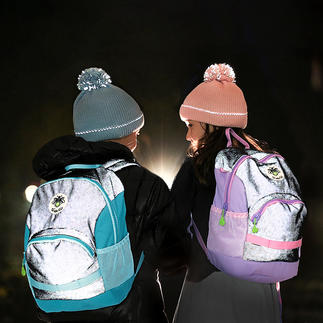 Twinkle Kid® Reflective Backpack Hip during the day. Safe in the dark.
