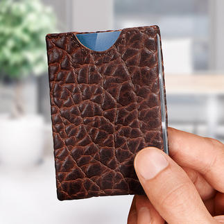 Wallet Striking bison leather. Ingenious four-compartment insert system.