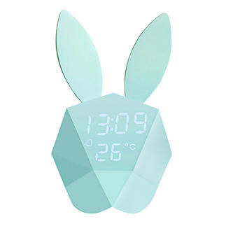 Cutty Clock Cute bunny: Alarm clock, thermometer and night-light in one.
