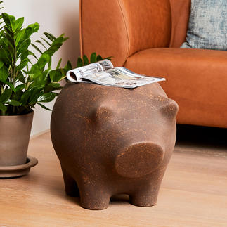 Side Pig Tray and sculpture in one: The side table pig that induces chuckles and wonder.