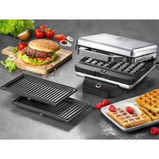 WMF Lono Snack Master Ingenious all-rounder for toasted sandwiches, waffles, pancakes, doughnuts and muffins.