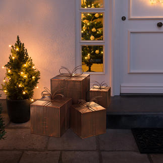 Metal Decorative Packages Heavenly Christmas post. Lovely for inside or out.