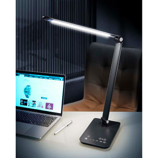 Dynamic LED Lights 5 selectable light modes for working, reading, relaxing. Can also be used wirelessly.