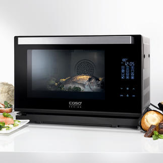 Caso Steam Chef Steam Oven Hot-air oven, steamer and grill in one compact device. By Caso.