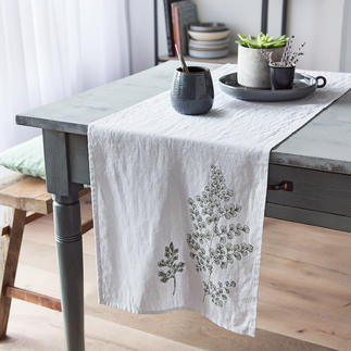 "Linen table runner or Linen Placemat ""Botany"" Beautiful unadulterated natural fabric. Always unique."