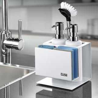 Cube Design Organizer Keeps washing-up utensils tidy and within easy reach.