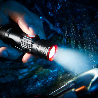 Compact Torch Eco Beam Pro 350 lumens. 3 light modes with zoom. With integrated USB charger.
