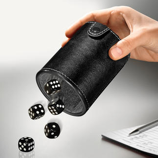 Dice Cup to Go With storage compartment and cushioned interior. Great fun on the go.
