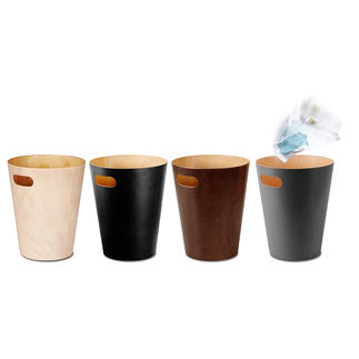 "Waste Paper Bin ""Woodrow"" Timelessly elegant, simple design. Much more beautiful than plastic or cold metal."