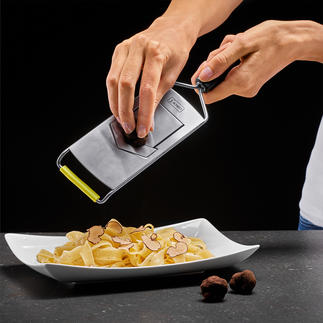 V Slicer Extremely sharp and keeps its edge. Ideal for expensive truffles.