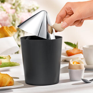 Tabletop Bin Oskar Innovative stainless design makes for a stylishly clean table.