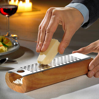 Designer Cheese Grater The better way to grate cheese: Crumb-free and ready to serve.