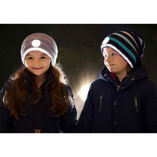 Twinkle Kid® Reflector Beanie The knitted beanie effect is secured and cool. Easily visible in the dark, thanks to bright reflector fibres.
