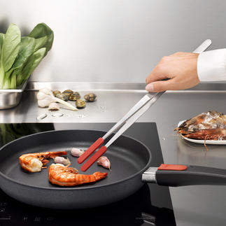 Kitchen tweezers with attachable silicone tips Almost indestructible. Also ideal for use with coated pots and pans.