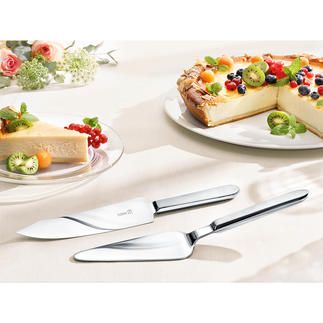 Cake Flatware Cuts and serves cakes and tarts of all kinds in a clean and stylish way.