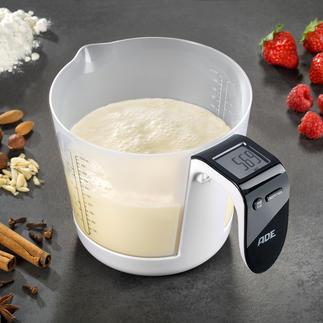 Measuring cup/Digital scale Now all you need is this brilliant measuring cup scale to weigh ingredients down to the gramme.