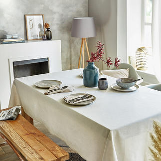 Linen Look Table Linen A rare table linen with a sophisticad linen look and fully easy-care. And pleasingly affordable.