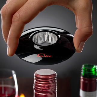Wine-Donut® A stylish way to open wines with screw caps.