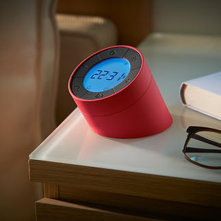 "Alarm Clock ""Edge"" Stylish alarm clock and dimmable night or mood lighting all in one."