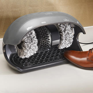 Caso Shoe Shine Machine Shoes as clean as if they were cleaned by hand every day. In seconds. At an affordable price.
