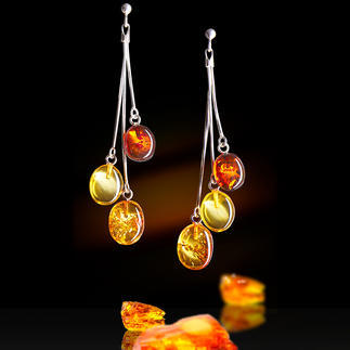 Amber Stud Earrings Precious, unique pieces of earth's history, daintily set in 925 silver.