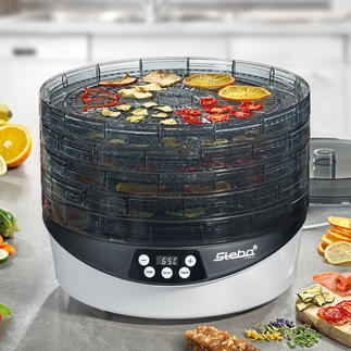 Rotating Food Dehydrator ED 8 The technology of professional food dehydrators – now also available for home use.