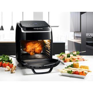Hot Air Fryer Bistro Vital Roasts, bakes, braises, dehydrates, grills, gratinates, toasts, heats up. Healthy, low-fat and low-calorie.