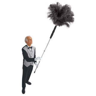 Ostrich Feather Duster Feather duster with additional telescope handle. Extends to 6 feet.