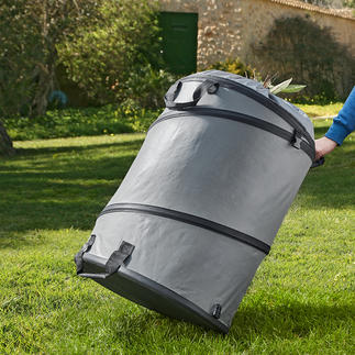 Garden Waste Bag The better garden waste bag: With solid bottom and pop-up function. Stable, extra strong and durable.