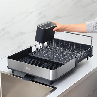 Expandable Dish Drainer The clever dish drainer never takes up unnecessary space.