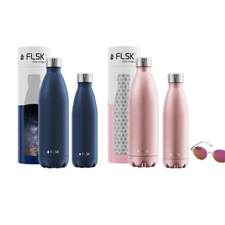 FLSK Insulated Bottle or muki Snackpot Award-winning design meets outstanding insulating performance.