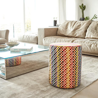 Missoni Stool An explosion of colour that cleverly combines stripes with squares. Always an exclusive eye-catcher.