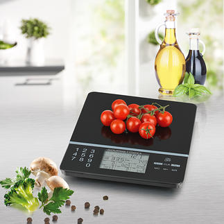Food Control Kitchen Scales The intelligent kitchen scales: Knows the number of calories and nutritional values of 999 (!) different foods.