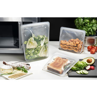 Stasher Bag Stasher Bags, the reusable silicone food bags. Suitable for storing, transporting, freezing, cooking and even sous-vide cooking.