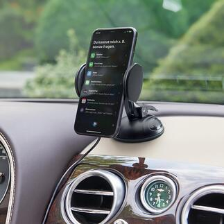 2-in-1 Super Grip Universal Holder Safer, more convenient (and much more elegant): Navigation or mobile phone – away from the windscreen.