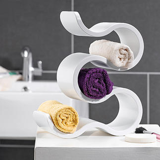 BOA Shelf The versatile BOA shelf: Keeps guest towels and soaps handy or shows off wine bottles in a skilful way.