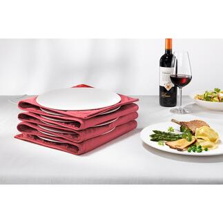 Plate Warmer Heats the centre of the plate and leaves the edges comfortable to handle. Holds up to 12 large pasta or dinner plates.