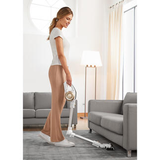 3-in-1 Livington Prime Battery-operated Vacuum Cleaner Lighter. Quieter. With 90° articulated joint and integrated hand-held vacuum cleaner. At a very good price.