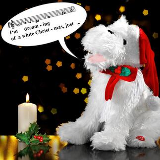 Singing Christmas Dog This enchanting Christmas dog will capture every heart with its song.