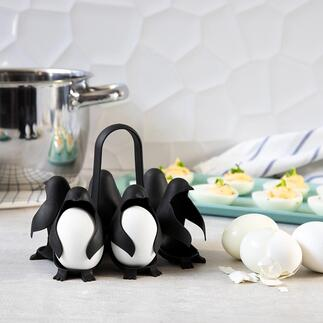 Egguins Egg Holder Inventive and practical: Egguins egg holder in cute penguin design. Boil up to 6 eggs in one go and serve.