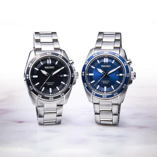 Seiko Kinetic Wrist Watch Runs up to 100 times longer than conventional automatic watches. For men and women.