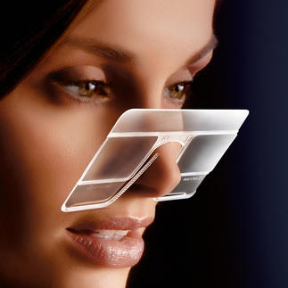 eyeCard®, Set of 2 2.5-fold magnification. Practical at home and on the road. Even if you already wear specs.