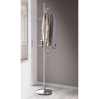 Coat Rack 8 hooks hold coats, jackets & much more in a space-saving design. Sturdy stainless steel.